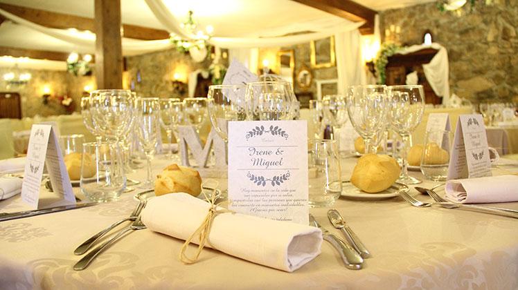 Mesa de boda Los Truecos